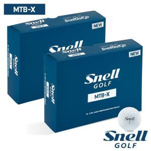 ゴルフボール スネルゴルフ SNELL GOLF MTB-X ホワイト 2ダース 24球|wizard