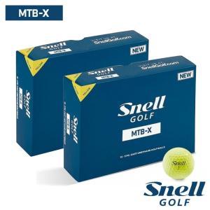 ゴルフボール スネルゴルフ SNELL GOLF MTB-X イエロー 2ダース 24球|wizard