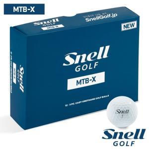 ゴルフボール スネルゴルフ SNELL GOLF MTB-X ホワイト 5ダース 60球|wizard