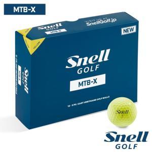 ゴルフボール スネルゴルフ SNELL GOLF MTB-X イエロー 5ダース 60球|wizard