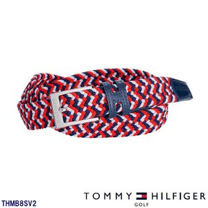 トミーヒルフィガー TOMMY HILFIGER THMB8SV2 RUBBER MESH ベルト トリコロール(90)|wizard