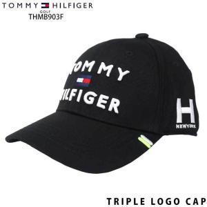 トミーヒルフィガー TOMMY HILFIGER THMB903F TRIPLE LOGO CAP 三段ロゴ キャップ ブラック(10)|wizard