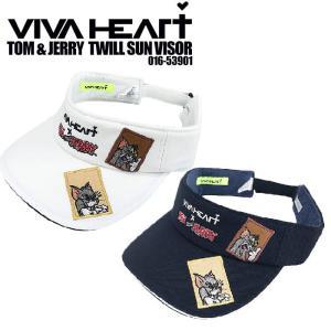 ビバハート 2020 VIVA HEART 016-53901 TOM&JERRY ツイルサンバイザー トム&ジェリー トム&ジェリー|wizard
