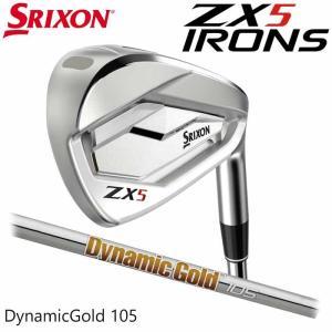 (左右選択可)(メーカーカスタム)SRIXON ZX5 IRON スリクソン アイアン 5I〜PW(6本セット) ダイナミックゴールド 105 日本正|wizard