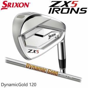 (左右選択可)(メーカーカスタム)SRIXON ZX5 IRON スリクソン アイアン 単品 ダイナミックゴールド 120 日本正規品|wizard