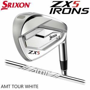 (左右選択可)(メーカーカスタム)SRIXON ZX5 IRON スリクソン アイアン 5I〜PW(6本セット) ダイナミックゴールド AMT TOU|wizard