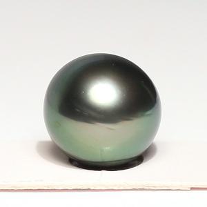 黒蝶真珠セミラウンド形11.1mm×10.8mm1珠ルース材料片穴あき お届け方法変更で配送370円選べる商品 wizem