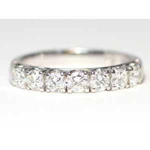 プラチナダイヤモンド0.72ctリング一文字タイプ PT900 指輪サイズ12 宝石鑑別書付属 ラッキーセブン縁起の良い7石|wizem
