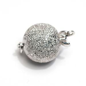 クラスプ留め金具パールネックレス用SILVERボール形直径約10.8mm指定ください 選べる配送方法360円対応商品|wizem