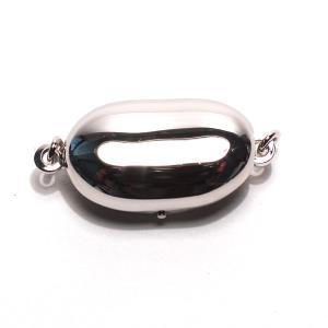 クラスプ ビーンズ形真珠ネックレス用 SILVERワンタッチMサイズ パールネックレス用留め金具/お届け方法変更で送料370円選べる対応商品|wizem