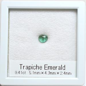 トラピッチェエメラルド0.41ct 5.1mm×4.3mm レアストーンコレクション|wizem