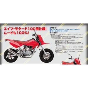ナンカイオリジナル エイプ100/XR100モタード パワーコンプマフラー・タイプ1 |wjs