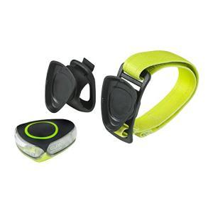 ELPA エルパ スポーツライト グリーン 白色/赤色切替可能 自転車のハンドルや腕に簡単取付可能 ...