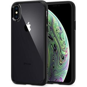 スマホケース Spigen シュピゲン iPhone XS / X ウルトラハイブリッド マットブラ...