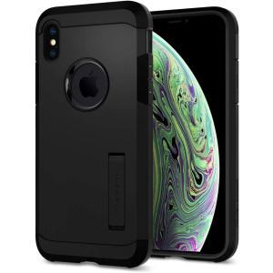 スマホケース Spigen シュピゲン iPhone XS / X タフアーマー マットブラック 0...