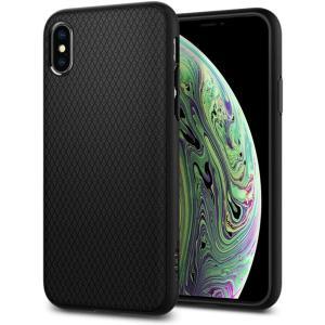 スマホケース Spigen シュピゲン iPhone XS / X リキッドエアー マットブラック ...