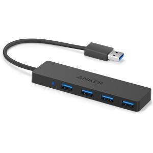 ハブ Anker USB3.0 ウルトラスリム 4ポートハブ  USB3.0 高速ハブ / バスパワ...
