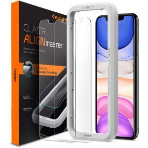 スマホ ガラス フィルム Spigen iPhone 11 iPhone XR 6.1インチ 2枚セ...
