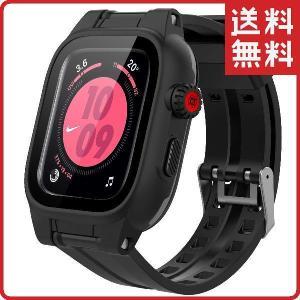 Apple Watch Series 6 / 5 / 4 / SE 44mm カバー 交換用バンド アップルウォッチ バンド 防水 耐衝撃 TOGRE / ブラックの画像