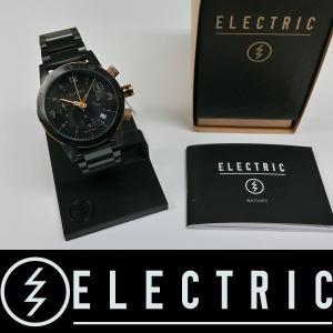 ELECTRIC 腕時計 : FW02 SS - ALL BLACK/COPPER 国内正規品 コマ詰め無料|wmsnowboards