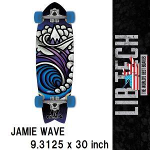 17 LIBTECH SKATE スケートボード クルーザー - 9.3125 x 30 - JAMIE WAVE - 国内正規品|wmsnowboards