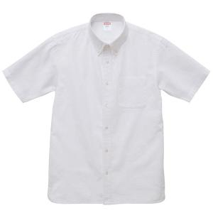 シャツ メンズ レディース 半袖 ボタンダウン 白 ホワイト ビジネス コットン 綿 制服 ポケット オックスフォード カラーシャツ Yシャツ クールビズ カジュアル|wmstore