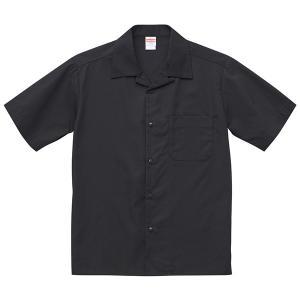 シャツ メンズ レディース 半袖 オープンカラーシャツ 黒 ブラック 制服 ポケット 無地 ペン差し カラーシャツ ワイシャツ Yシャツ クールビズ カジュアルシャツ|wmstore