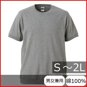 Tシャツ メンズ レディース 半袖 無地 丸首 大きい サイズ 厚手 綿 綿100 シャツ tシャツ スポーツ クルーネック ブランド スウェット 男 女 丈夫 s m l 2l 灰色|wmstore