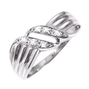 ダイヤリング 公式ストア 指輪ウェーブデザインリング 当店一番人気 17号