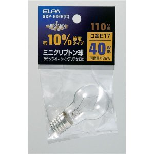 業務用セット ELPA ミニクリプトン球 電球 40W形 クリア C GKP-H36H 〔×30セット〕 E17 日本製 人気ショップが最安値挑戦
