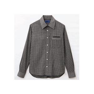 まとめ 激安セール 休日 セロリー 大柄ギンガムチェック長袖シャツ Sサイズ 〔×2セット〕 1枚 S-63410-S ブラック