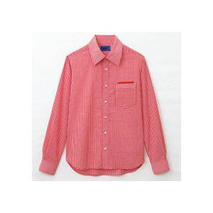 本物 まとめ セロリー 大柄ギンガムチェック長袖シャツ Sサイズ 1枚 賜物 〔×2セット〕 S-63413-S レッド