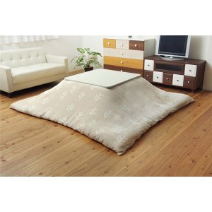 洗える こたつ布団カバー 正方形 北欧調 ベージュ 約195×195cm|wmstore