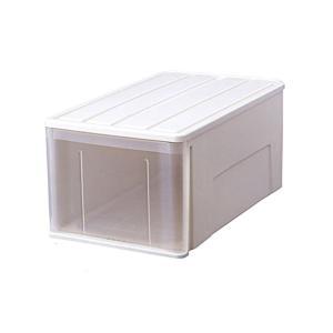 たっぷり収納ケース/衣装ケース 〔幅36cm×高さ30cm〕 ホワイト 日本製