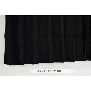 遮熱 遮音 ランキング総合1位 1級遮光 遮光カーテン 目隠し 2枚組 省エネ 九装 豪華な ブラック 100×200cm ロジック