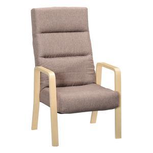 <title>高座椅子 リクライニングチェア 〔ブラウン ハイタイプ〕 特売 幅58cm 木製 ハイバック 肘付き 折りたたみ〔代引不可〕</title>