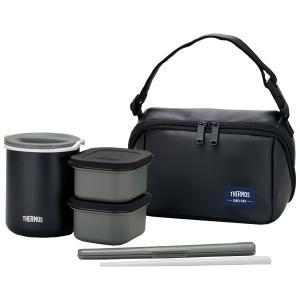 〔THERMOS サーモス〕 保温弁当箱 〔マットブラック ごはん量:お茶碗約1.8杯分〕 男性向け 軽量 コンパクト|wmstore