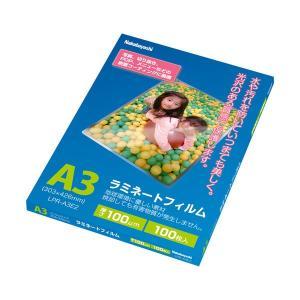 (まとめ)ナカバヤシ ラミネートフィルム A3100μ LPR-A3E2 1パック(100枚)〔×2...