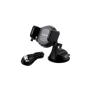【商品名】 エレコム Qi規格対応ワイヤレス充電器/9W/5W/車載ホルダー付/ブラック W-QC0...