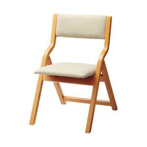 【商品名】 アイコ 折畳イス MW-100 ベージュ 木製