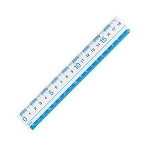 (まとめ)レイメイ アクリル直定規 目盛り18cm 1本〔×20セット〕