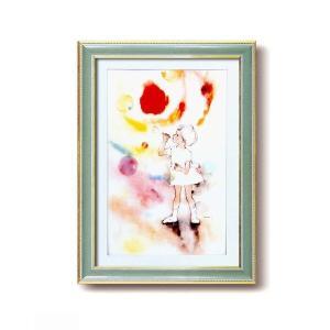 【商品名】 いわさきちひろ絵画額(グリーン) シャボン玉 【ジャンル・特徴】 金のラインがとても印象...