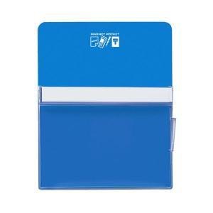 <title>まとめ コクヨ マグネットポケット 流行のアイテム A4300×240mm 青 マク-500NB 1個〔×5セット〕</title>