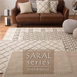 インド綿 ラグマット/絨毯 〔サリム 約50×80cm〕 長方形 綿100% ホットカーペット 床暖房可 SARAL 〔リビング〕〔代引不可〕|wmstore