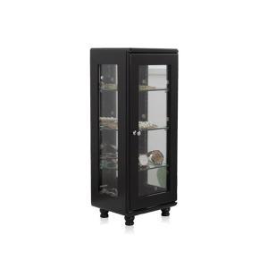 コレクションケース/ディスプレイケース 〔縦型 ブラック〕 約幅20cm ガラス棚耐荷重約1kg/1段 完成品 〔リビング ホビー〕|wmstore