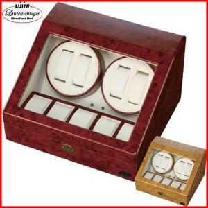 ワインディングマシーン 4本 マブチモーター エスプリマ LED 自動巻き時計 腕時計 ウォッチ 自動巻き メンズ レディース 時計 ワインダー ワインディングマシン|wmstore