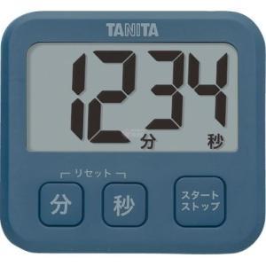 タニタ デジタルタイマー ブルー TD-408-BL|wnet