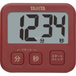 タニタ デジタルタイマー レッド TD-408-RD|wnet