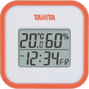 タニタ デジタル温湿度計 オレンジ TT558OR|wnet