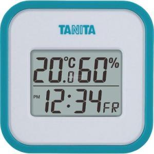 タニタ デジタル温湿度計 ブルー TT558BL|wnet